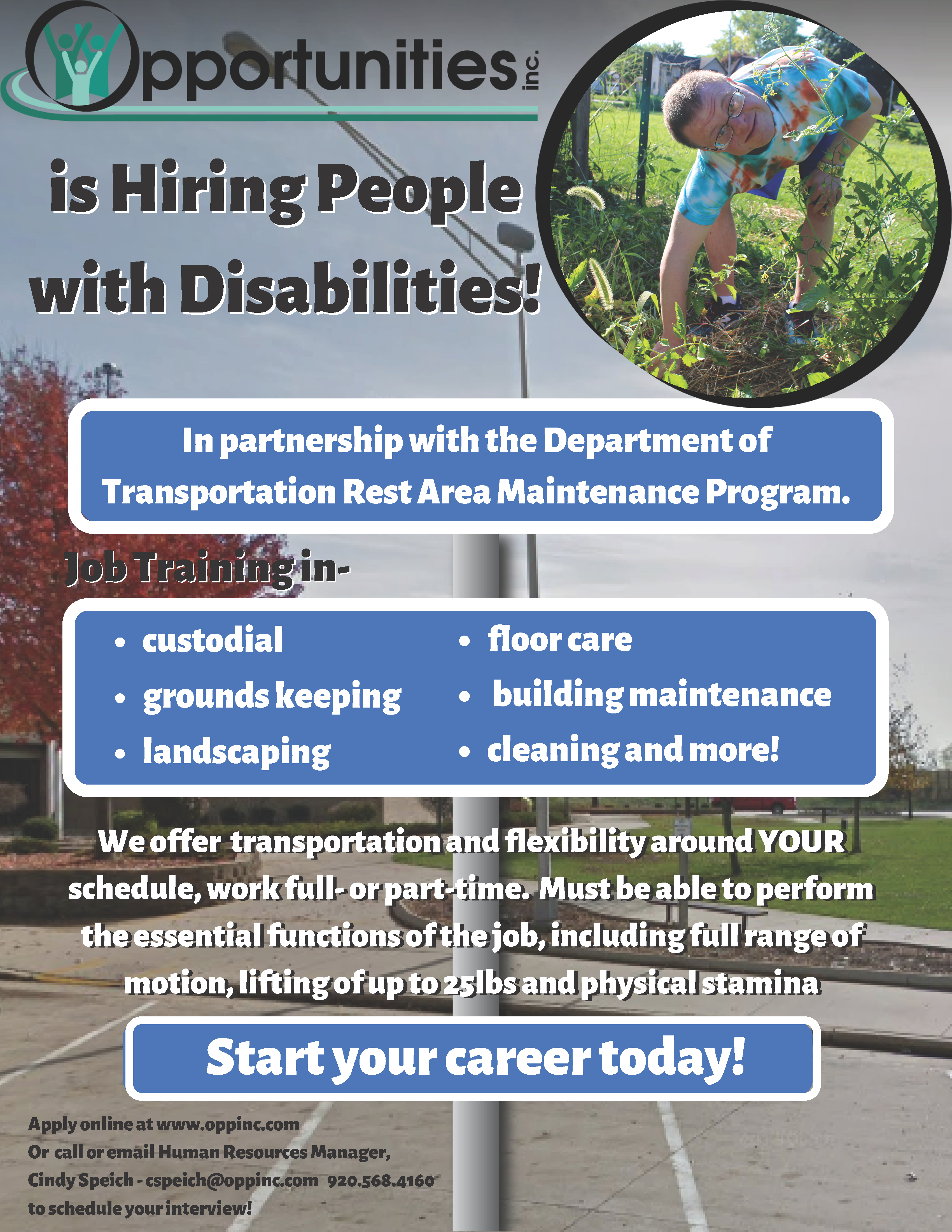 Rest Area Hiring People with Disabilities